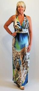 Comfortable designer maxi dress for summer cruises - definitely a beach to bar dress!