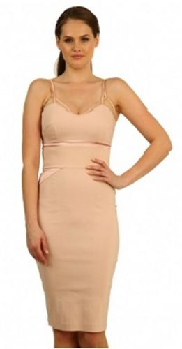 Classic beige pencil dress