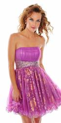 Precious Formals pink and gold tutu prom dress, was