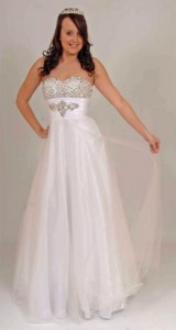 White prom  princess ballgown