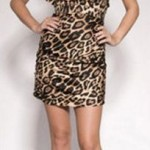 Jemima leopard print mini dress by Forever Unique £50