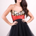 Stunning leopard print and black tutu dress by Forever Unique