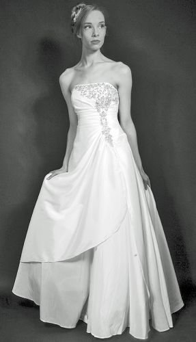 Ivory ball gown wedding dress