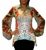 Versace style print top