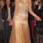 Alice in gold tulle halter neck F