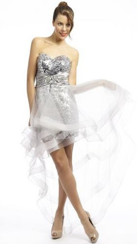 High low hem prom dress - perfect for showing off your pins!
