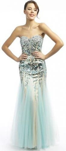 Sequin fishtail prom dress - perfect for showing off an hourglass figure!