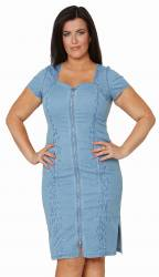 denim stretch dress for curvy ladies