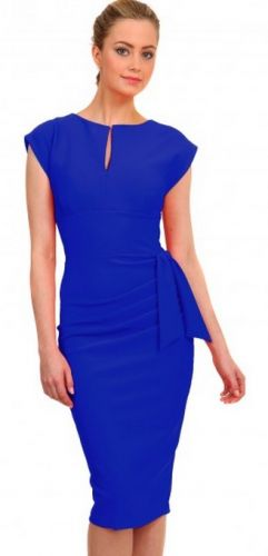 AW14 pencil dress in cobalt blue