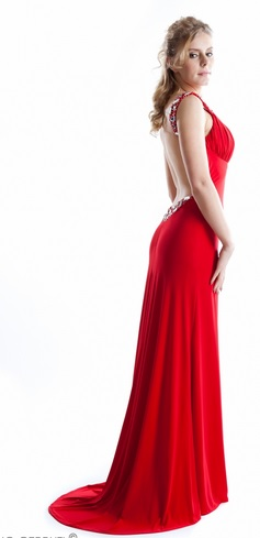 Red Backless Prom Dress