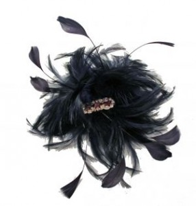 Vintage style feather fascinator
