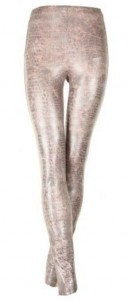 Thick, firm snake print leggings - £95