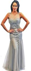 Illusion prom dress