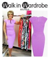 TV presenter, Ruth Langsford, work wear