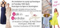 Come to our next pop up boutique on Thurs 16th April, 2019 in Storrington