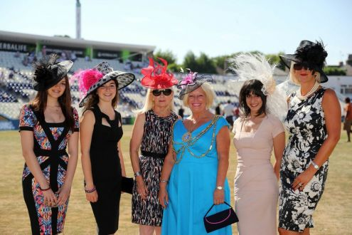 Ladies day at Sussex County Cricket Ground, our sales manager 2nd from the right, judges best hat. standing next to her is the Mayoress of Hove